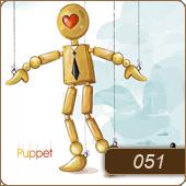 قالب وبلاگ عروسک چوبی